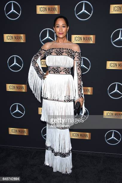 Tracee Ellis Ross attends the MercedesBenz x ICON MANN 2017 Academy Awards Viewing Party at Four Seasons Hotel Los Angeles at Beverly Hills on...