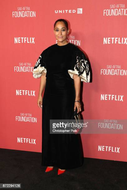 Tracee Ellis Ross attends the SAGAFTRA Foundation Patron of the Artists Awards 2017 at the Wallis Annenberg Center for the Performing Arts on...