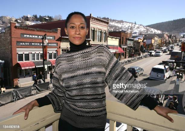 Tracee Ellis Ross during 2007 Sundance Film Festival 'Life Support' Outdoor Portraits at Delta Sky Lodge in Park City Utah United States
