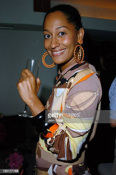 Tracee Ellis Ross during Limited Edition Champagne Veuve Clicquot Dressed by Emilio Pucci Party at Private Residence in Los Angeles California United...