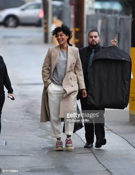 Tracee Ellis Ross is seen at Jimmy Kimmel Live on November 16 2017 in Los Angeles California