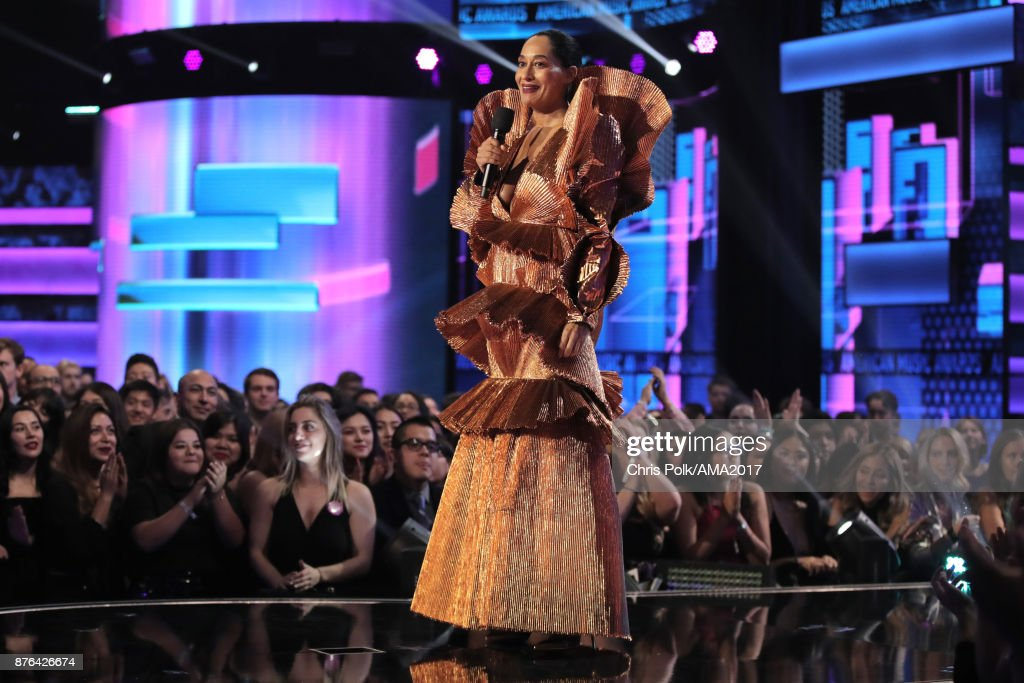 Tracee Ellis Ross onstage during the 2017 American Music Awards at Microsoft Theater on November 19, 2017 in Los Angeles, California.
