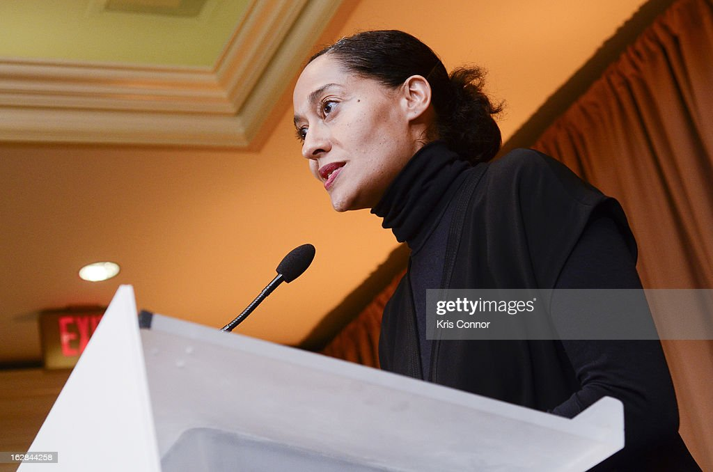 Tracee Ellis Ross speaks during the Leading Women Defined: Intel Presents Developing Your Personal Brand Mentoring Session on February 28, 2013 in Washington, DC.