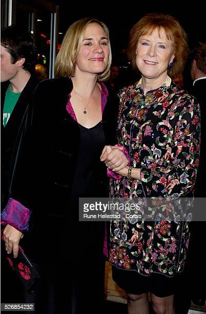 Tracey Chevalier and Judy Parfitt attend the premiere of 'Girl With A Pearl Earring' at the Odeon WestEnd in conjunction with the London Film Festival