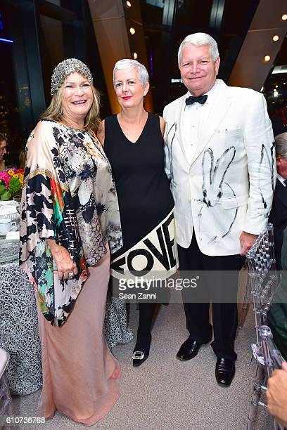 Tracey Copeland Debra Shriver and Gregory Morey attend Abstracted Black Tie Dinner Hosted by Pamela Joyner Fred Giuffrida and the Ogden Museum of...