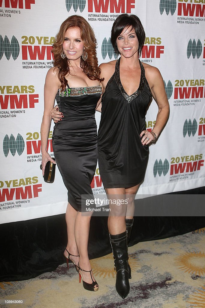 Tracey E. Bregman (L) and <a gi-track='captionPersonalityLinkClicked' href=/galleries/search?phrase=Lesli+Kay&family=editorial&specificpeople=624062 ng-click='$event.stopPropagation()'>Lesli Kay</a> arrive at The International Women's Media Foundation's 'Courage In Journalism' awards held at Beverly Hills Hotel on October 21, 2010 in Beverly Hills, California.