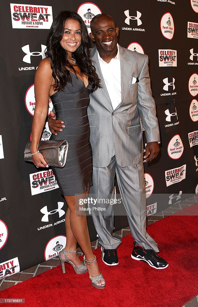 Tracey Edmonds and Deion Sanders arrive at the 2013 ESPY Awards - After Party at The Palm on July 17, 2013 in Los Angeles, California.