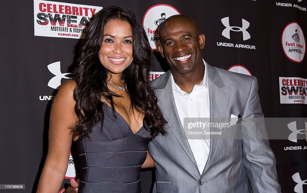 Tracey Edmonds and Deion Sanders attend Nelly Hosts An After Party To Celebrate The ESPYS at The Palm on July 17, 2013 in Los Angeles, California.