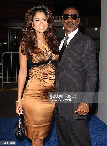 Tracey Edmonds and Eddie Murphy at the premiere of 'Good Luck Chuck' at Mann National Theatre on September 19 2007 in Westwood California