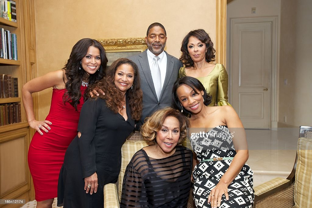 Tracey Edmonds, Debbie Allen, Norm Nixon, Debra Martin Chase, Anika Noni Rose and Diahann Carroll pose for a photo at the House Of Flowers Gala on October 19, 2013 in Beverly Hills, California.