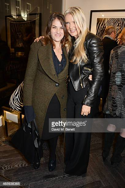 Tracey Emin and Amanda Wakeley attend the launch of the Amanda Wakeley London flagship store on January 30 2014 in London England