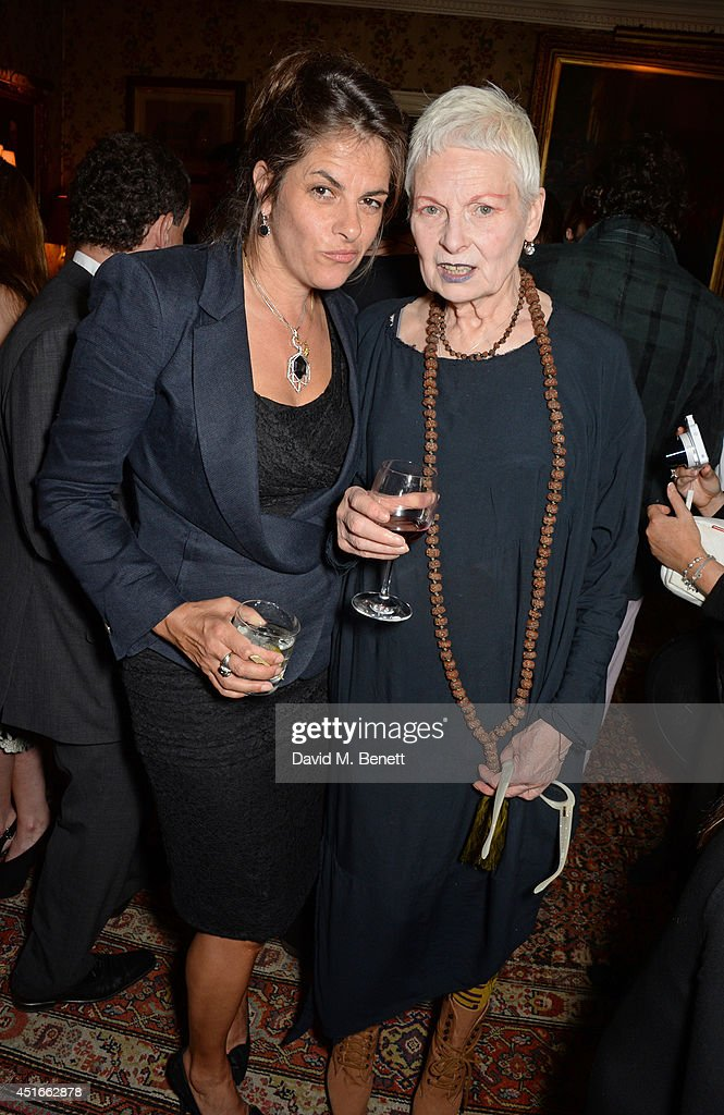 Tracey Emin and Dame Vivienne Westwood attend Tracey Emin's birthday party at Mark's Club on July 3 2014 in London England