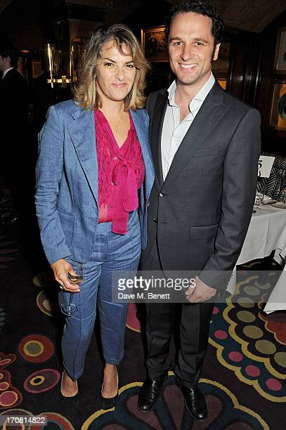 Tracey Emin and Matthew Rhys attend a private dinner hosted by GQ editor Dylan Jones and Tracey Emin to celebrate London Collections Men...