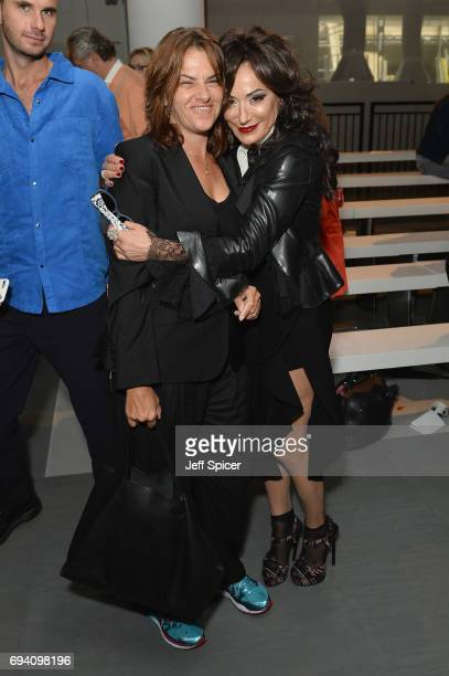 Tracey Emin and Nancy Dell'Olio attend the Berthold show during London Fashion Week Men's June 2017 collections on June 9 2017 in London England