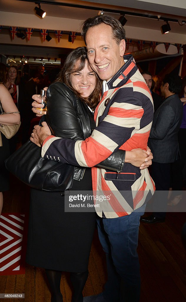 Tracey Emin and Richard E Grant attend the launch of Richard E Grant's debut fragrance 'Jack' hosted by GQ at Liberty on April 2 2014 in London...