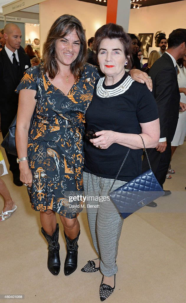 <a gi-track='captionPersonalityLinkClicked' href=/galleries/search?phrase=Tracey+Emin&family=editorial&specificpeople=203219 ng-click='$event.stopPropagation()'>Tracey Emin</a> (L) and Sandra Esquilant attend the Art Antiques London Gala Evening in aid of Children In Crisis at Kensington Gardens on June 10, 2014 in London, England.