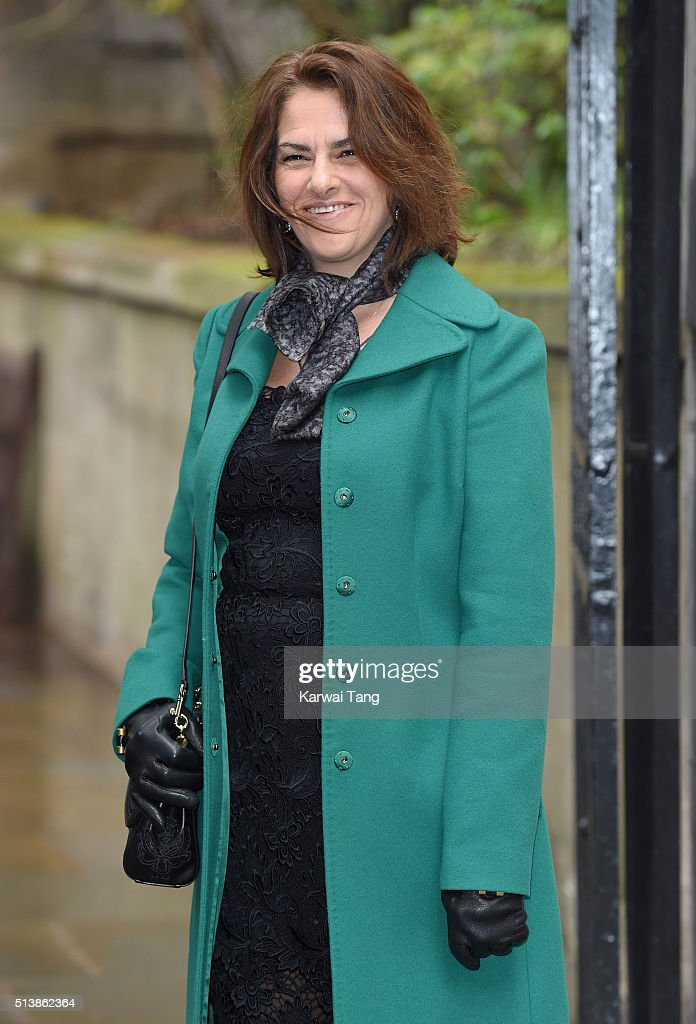 Tracey Emin arrives for the wedding of Jerry Hall to Rupert Murdoch at St Brides Church on March 5 2016 in London England