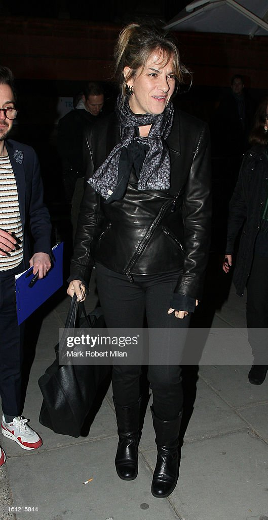 Tracey Emin at the private view of 'David Bowie Is' at Victoria & Albert Museum on March 20, 2013 in London, England.