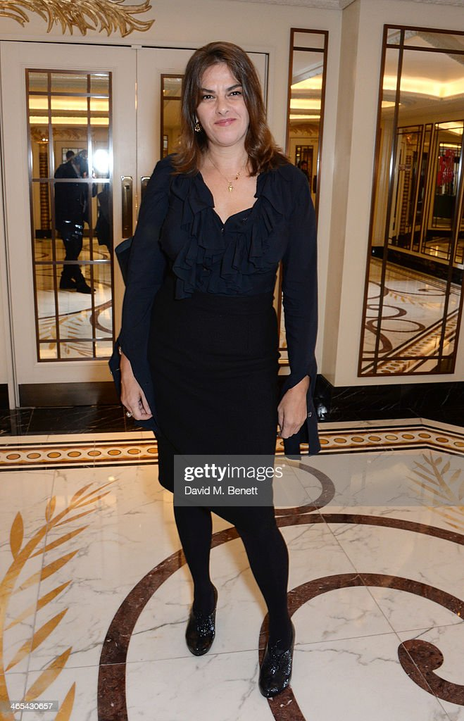 Tracey Emin attends a drinks reception at the South Bank Sky Arts awards at the Dorchester Hotel on January 27 2014 in London England
