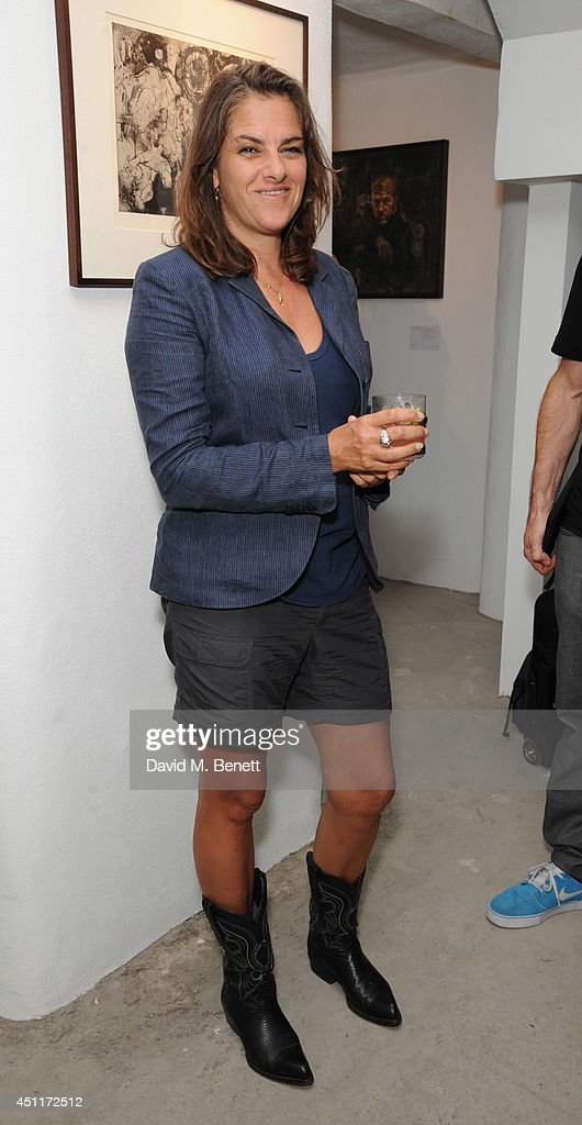 Tracey Emin attends a private view of 'Illuminating The Future: In Aid Of The Old Vic', a Christie's online auction benefiting The Old Vic Theatre Trust, at their 35 Brewer Street pop-up gallery on June 24, 2014 in London, England.