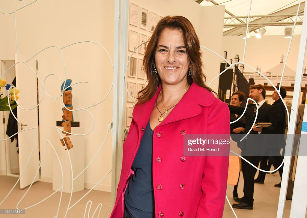 Tracey Emin attends a VIP preview of the Frieze Art Fair 2015 in Regent's Park on October 13 2015 in London England