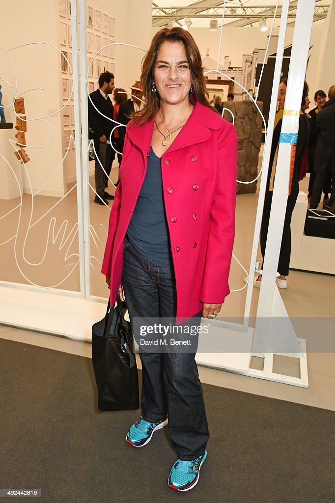 Tracey Emin attends a VIP preview of the Frieze Art Fair 2015 in Regent's Park on October 13, 2015 in London, England.