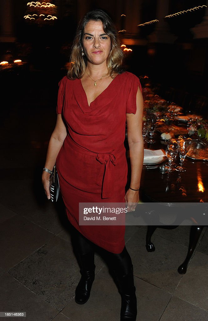 <a gi-track='captionPersonalityLinkClicked' href=/galleries/search?phrase=Tracey+Emin&family=editorial&specificpeople=203219 ng-click='$event.stopPropagation()'>Tracey Emin</a> attends the Alexander McQueen and Frieze Dinner to celebrate the Frieze Art Fair 2013 on October 17, 2013 in London, England.