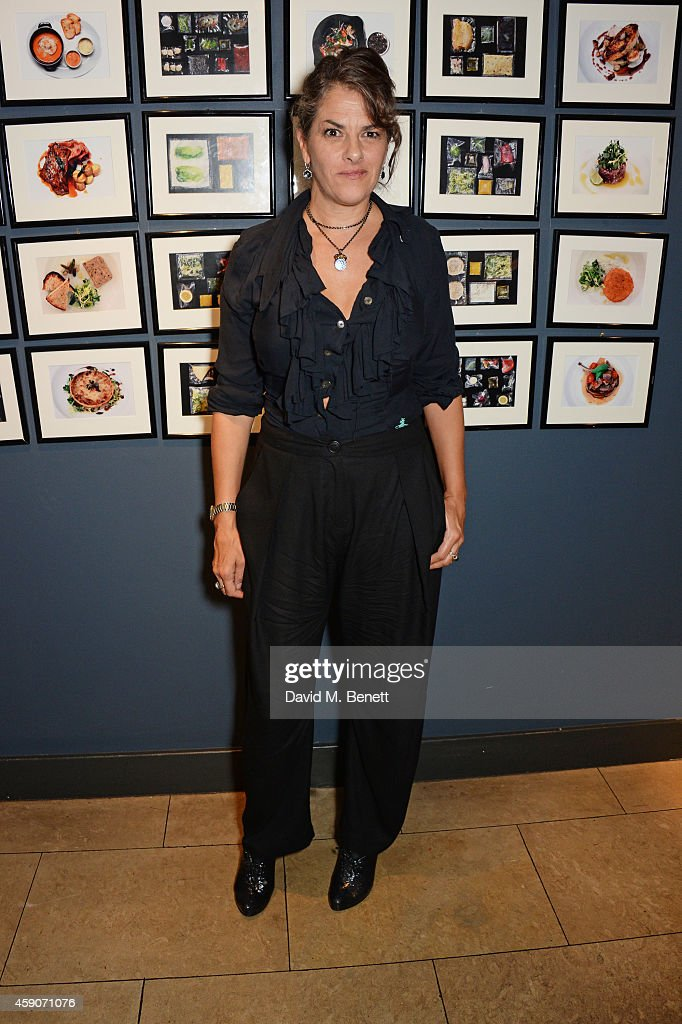 Tracey Emin attends the Fine Wine Auction Dinner hosted by Bill Knott in aid of 'Action Against Hunger' at 1 Lombard Street on November 15, 2014 in London, England.