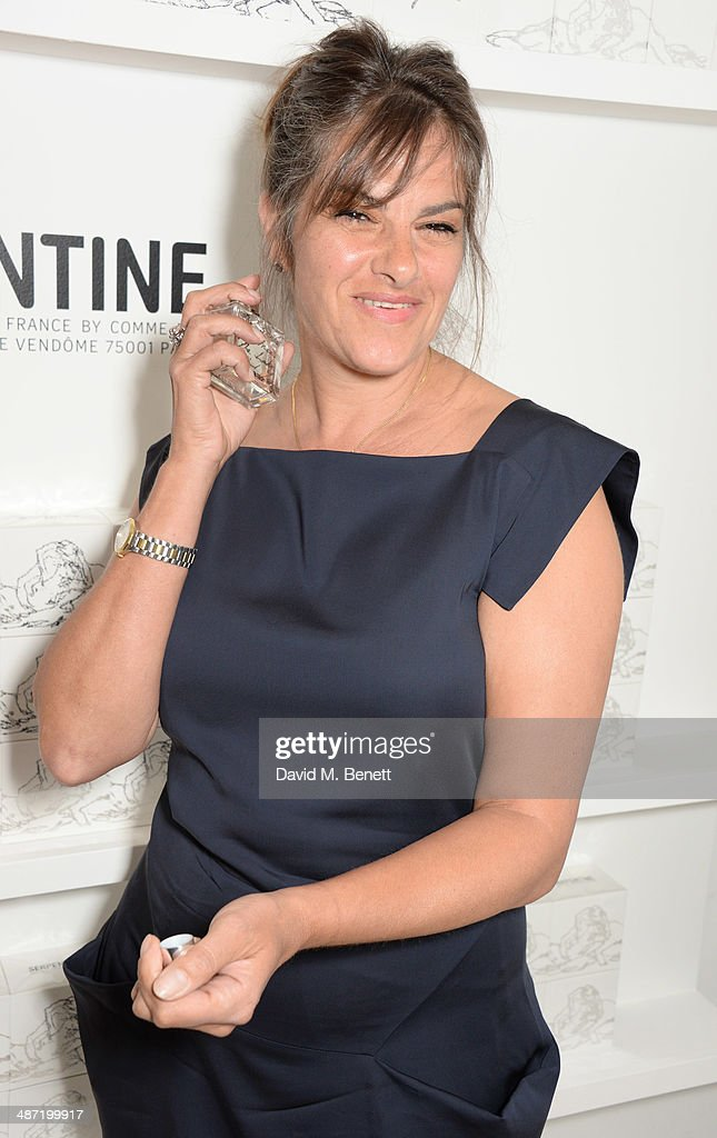 Tracey Emin attends the launch of 'Serpentine', a new fragrance by The Serpentine Gallery and fashion house Commes des Garcons featuring bottle artwork by Trace Emin, on April 28, 2014 in London, England.