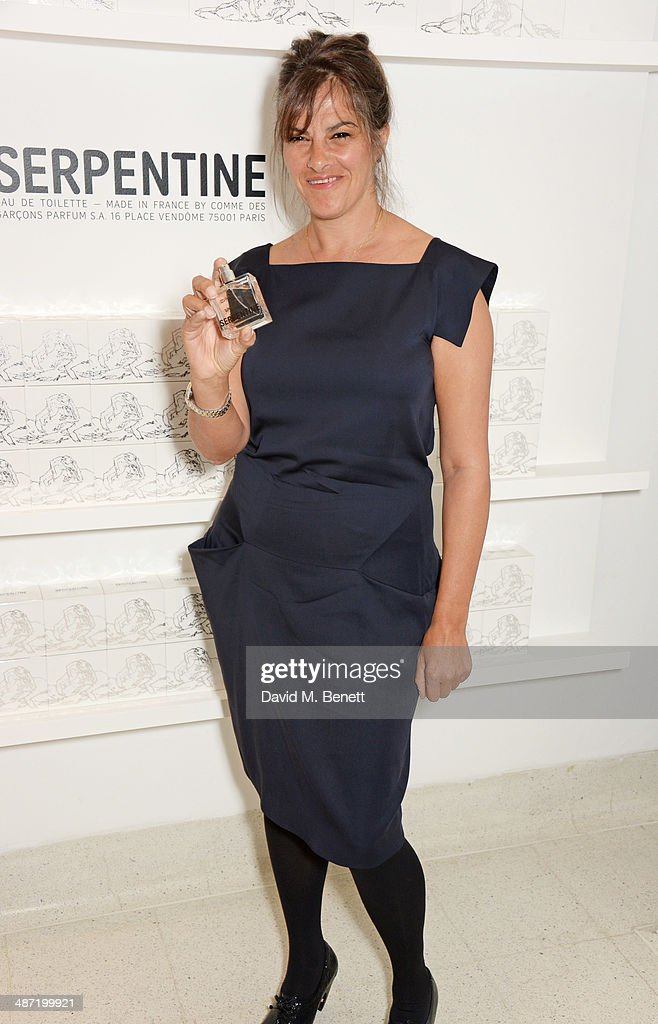 Tracey Emin attends the launch of 'Serpentine' a new fragrance by The Serpentine Gallery and fashion house Commes des Garcons featuring bottle...