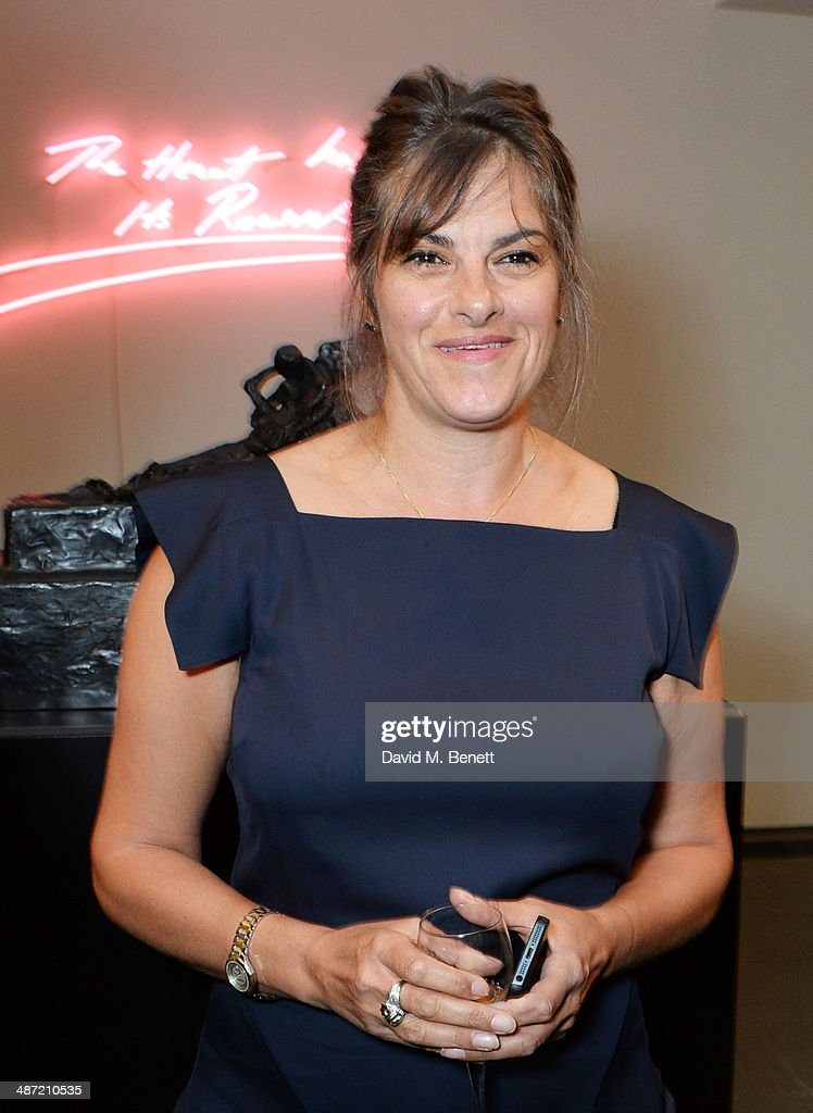 <a gi-track='captionPersonalityLinkClicked' href=/galleries/search?phrase=Tracey+Emin&family=editorial&specificpeople=203219 ng-click='$event.stopPropagation()'>Tracey Emin</a> attends the launch of 'Serpentine', a new fragrance by The Serpentine Gallery and fashion house Commes des Garcons featuring bottle artwork by Trace Emin, on April 28, 2014 in London, England.