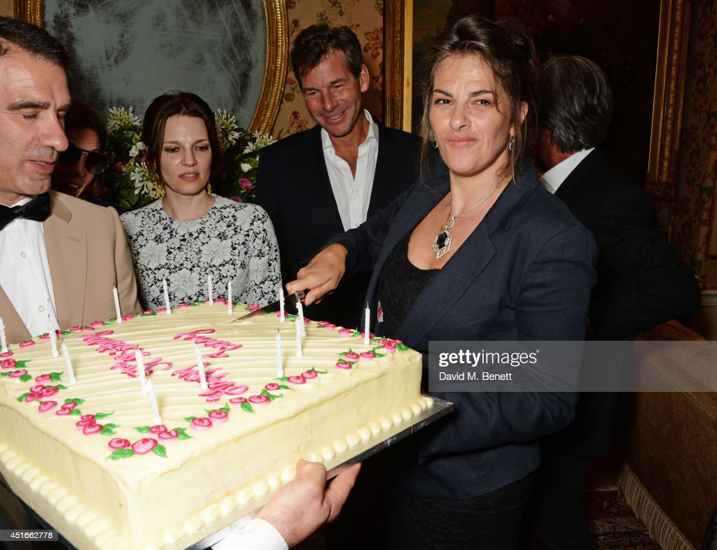 Tracey Emin attends Tracey Emin's birthday party at Mark's Club on July 3 2014 in London England