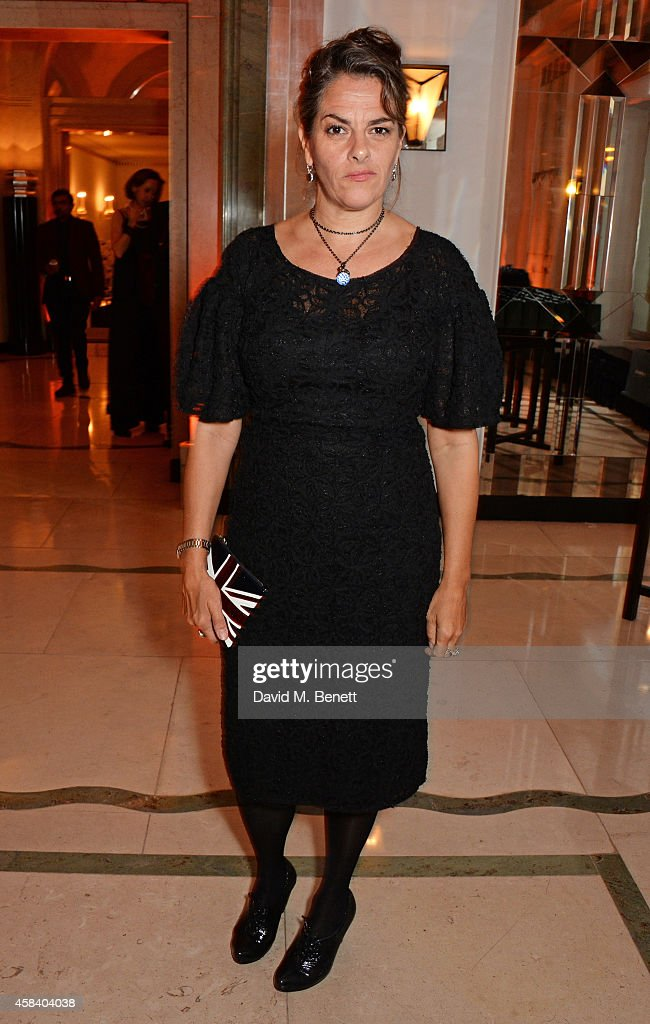 Tracey Emin poses at the Harper's Bazaar Women Of The Year awards 2014 at Claridge's Hotel on November 4 2014 in London England