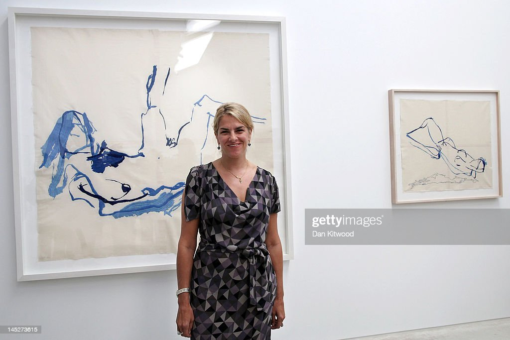 Tracey Emin poses for a picture at the Turner Contemporary Gallery on May 25 2012 in Margate England Emin's 'She Lay Down Deep Beneath The Sea'...