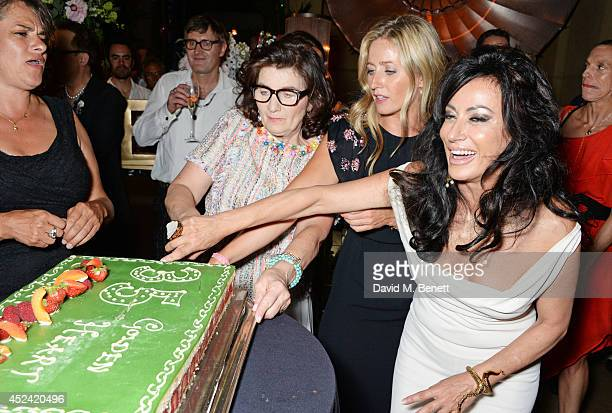 Tracey Emin Sandra Esqulant landlady of The Golden Heart daughter Sarah Esqulant Giles and Nancy Dell'Olio attend the a party celebrating the 35th...