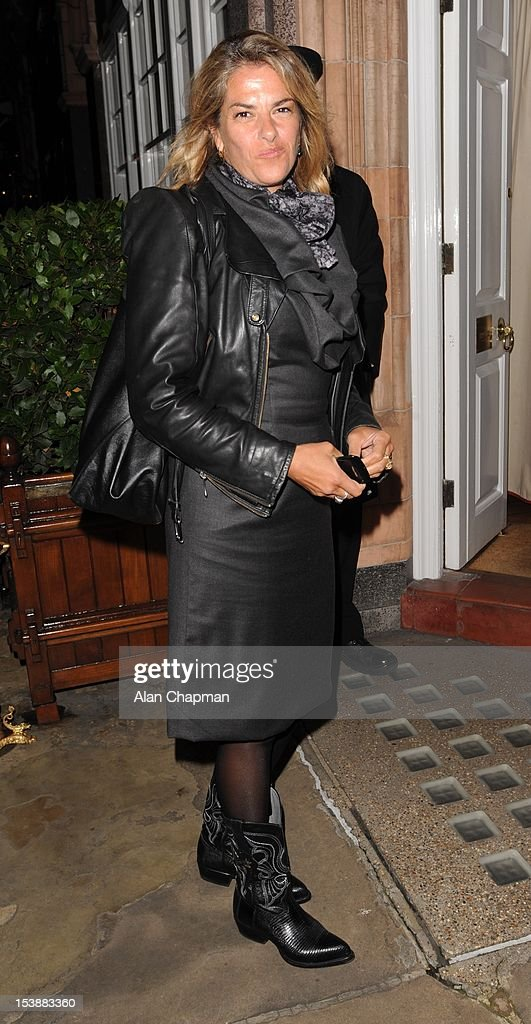 Tracey Emin sighting at Harry's Bar on October 10, 2012 in London, England.