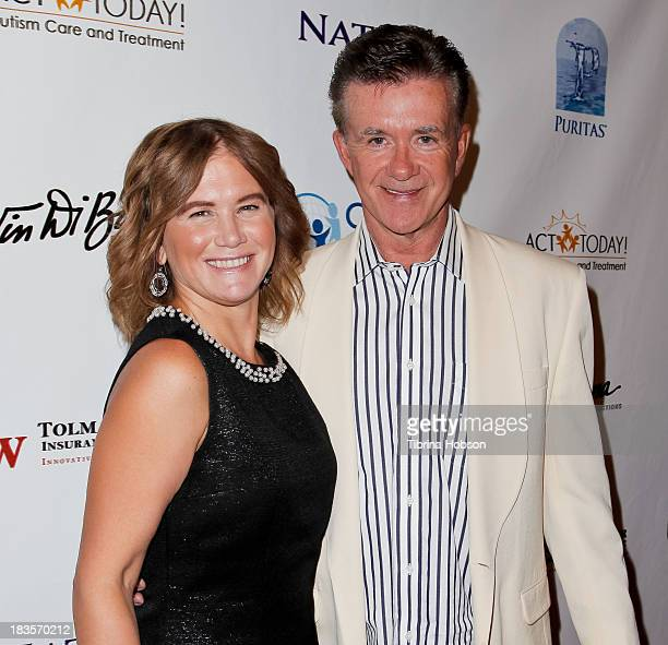 Tracey Gold and Alan Thicke attend the 8th annual Denim Diamonds for Autism at Fours Season Hotel on October 6 2013 in Westlake Village California