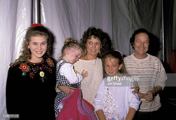 Tracey Gold and family during Hollywood Christmas Parade November 27 1988 at KTLA TV Studios in Hollywood California United States