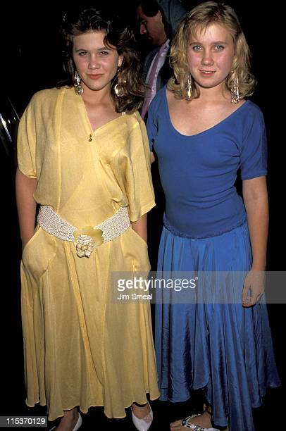 Tracey Gold and Missy Gold during Tracey Gold and Missy Gold at Spago's April 26 1987 at Spago's in Hollywood California United States