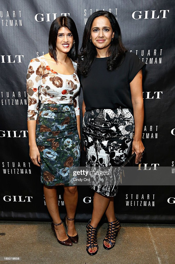 Tracey Lomrantz Lester and Jyoti Rao attend as Gilt And Stuart Weitzman celebrate the 5050 Boot 20th anniversary on October 16, 2013 in New York City.
