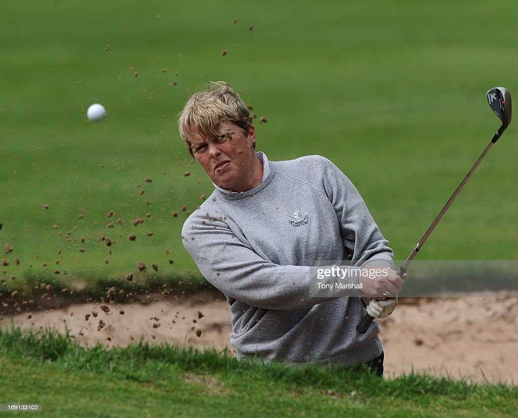 Tracey Loveys of Bidbury Golf Club during the Glenmuir Women's PGA Professional Championship - Regional Qualifier at Little Aston Golf Club on May 20, 2013 in Birmingham, England.