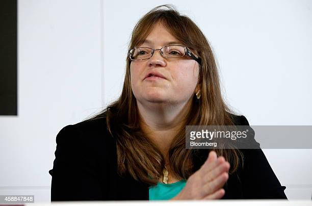 Tracey McDermott director of enforcement and financial crime at the Financial Conduct Authority speaks during a news conference following an...