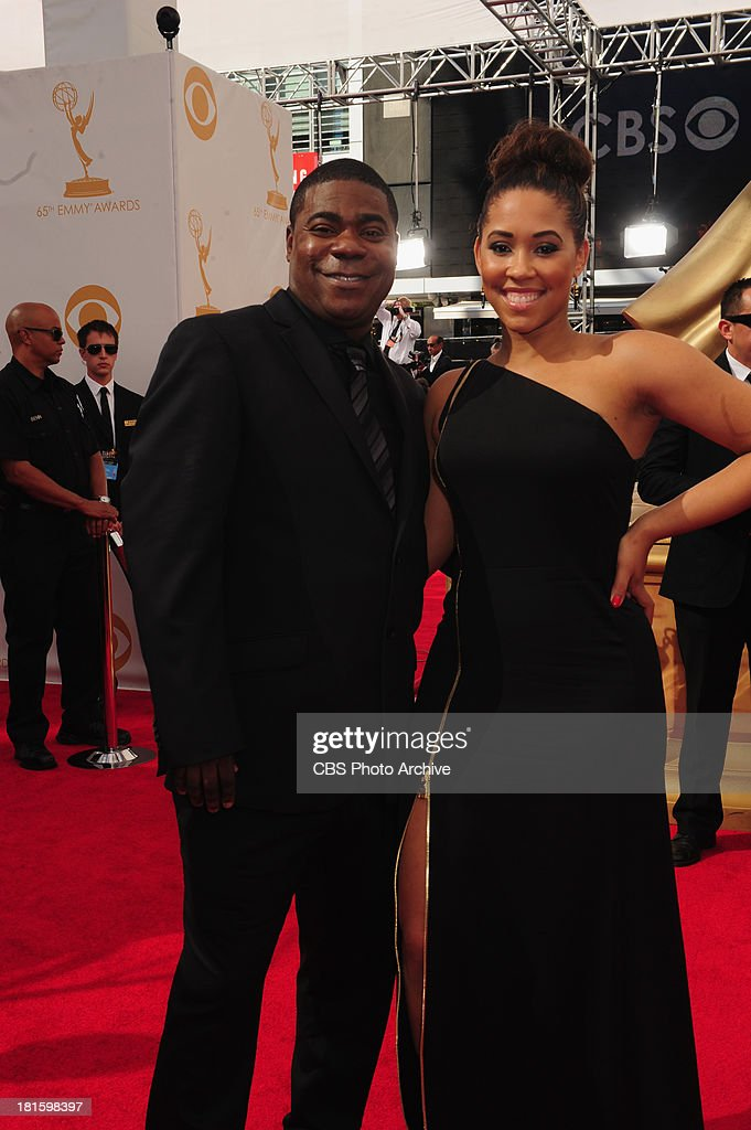 Tracey Morgan from 30 Rock and guest on the red carpet for the 65th Primetime Emmy Awards which will be broadcast live across the country 8:00-11:00 PM ET/ 5:00-8:00 PM PT from NOKIA Theater L.A. LIVE in Los Angeles, Calif., on Sunday, Sept. 22 on the CBS Television Network.
