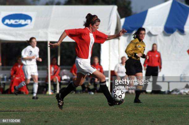 Tracey Mulligan of Christian Brothers University dribbles the ball downfield during the Women's Division 2 Soccer Championships at Triton Stadium on...