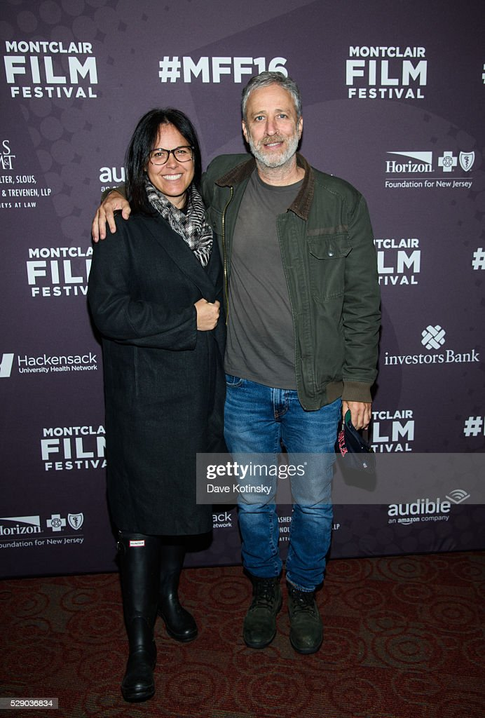 Tracey Stewart and Jon Stewart attend the Montclair Film Festival 2016 on May 7, 2016 in Montclair City.