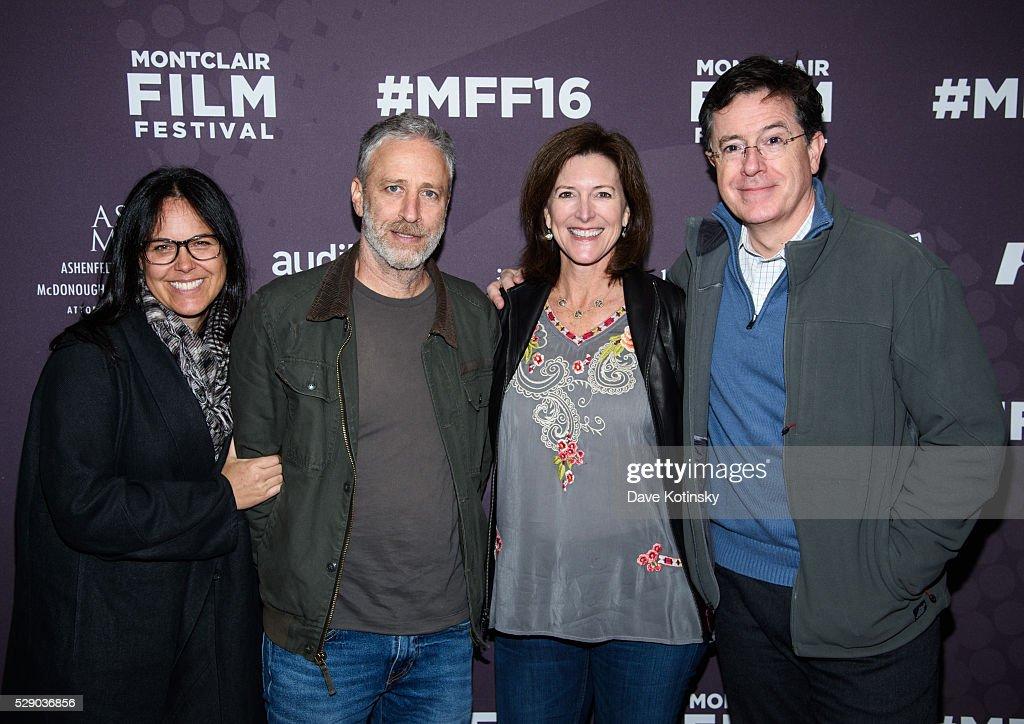 Tracey Stewart, Jon Stewart, Stephen Colbert and Evie Colbert attend the Montclair Film Festival 2016 on May 7, 2016 in Montclair City.
