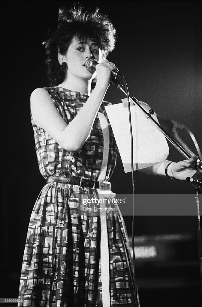 Tracey Thorn of Everything But The Girl performs on stage at the ICA London United Kingdom 5th January 1983