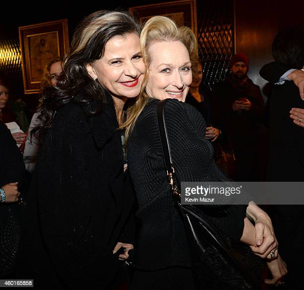 Tracey Ullman and Meryl Streep attend the world premiere of 'Into the Woods' at the Ziegfeld Theatre on December 8 2014 in New York City The stars...