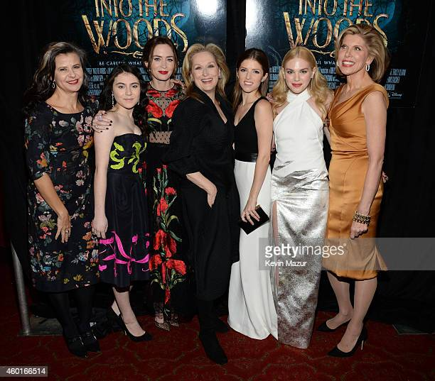 Tracey Ullman Lilla Crawford Emily Blunt Meryl Streep Anna Kendrick MacKenzie Mauzy and Christine Baranski attends the world premiere of 'Into the...