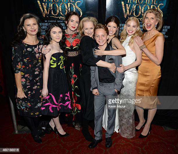 Tracey Ullman Lilla Crawford Emily Blunt Meryl Streep Daniel Huttlestone Anna Kendrick MacKenzie Mauzy and Christine Baranski attends the world...